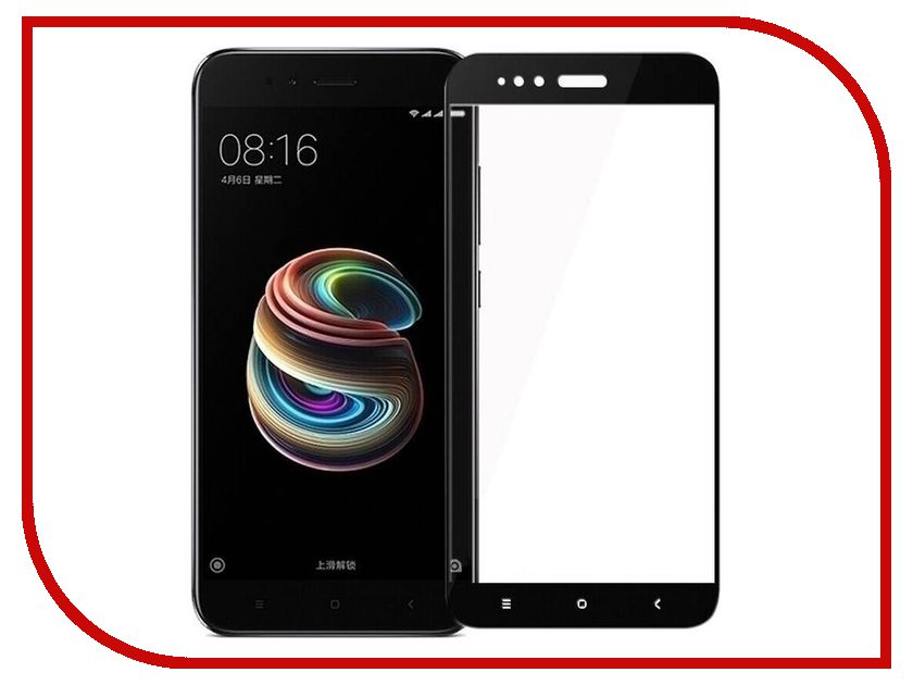 Аксессуар Защитное стекло для Xiaomi Mi A1/5X BoraSCO Full Cover Black аксессуар защитное стекло meizu u10 borasco 0 2mm