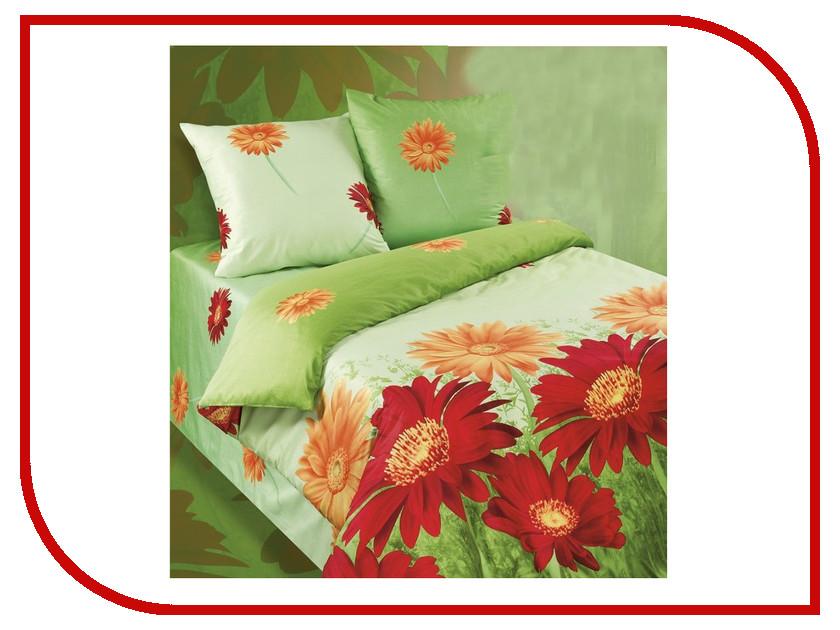 Постельное белье Экзотика 367 Комплект 1.5 спальный Сатин постельное белье эго комплект 1 5 спальный полисатин
