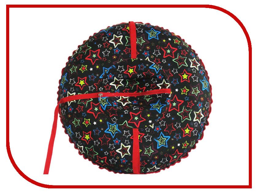 Тюбинг Формула зима Люкс 100 граффити звёзды на чёрном 55018-1
