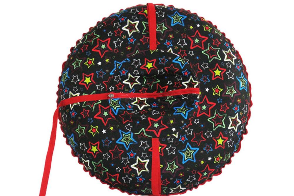 Тюбинг Формула зима Люкс 100 граффити звёзды на чёрном 55018-1 фото