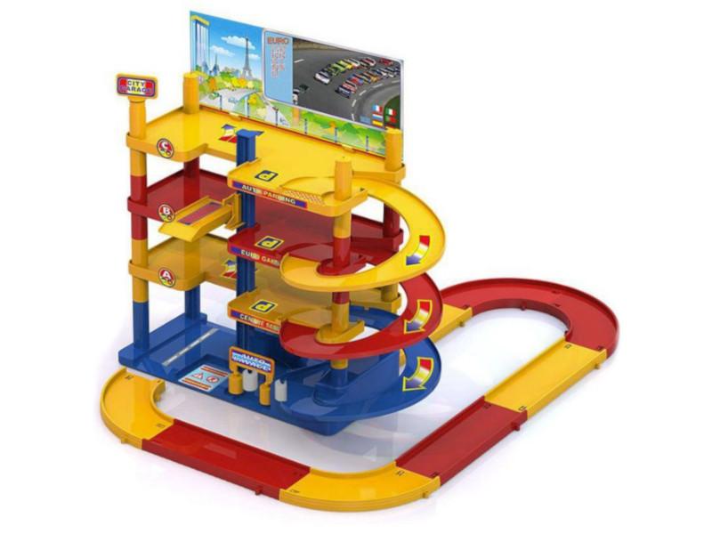Игрушка Нордпласт Мега гараж с дорогой 431207 цена