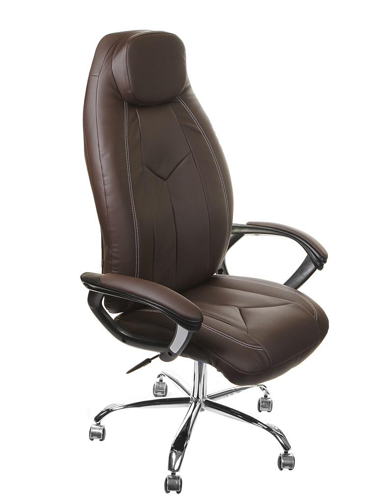 Компьютерное кресло TetChair Boss хром Brown 9815 цена