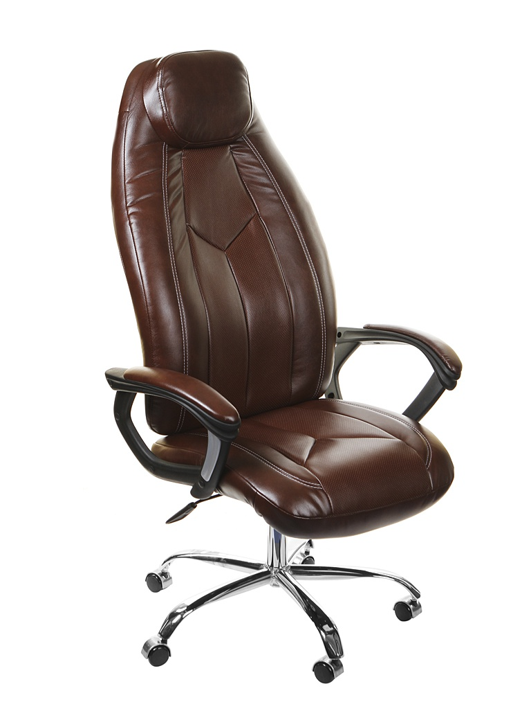 Компьютерное кресло TetChair Boss хром Brown 2 TONE/2 TONE /06 10540