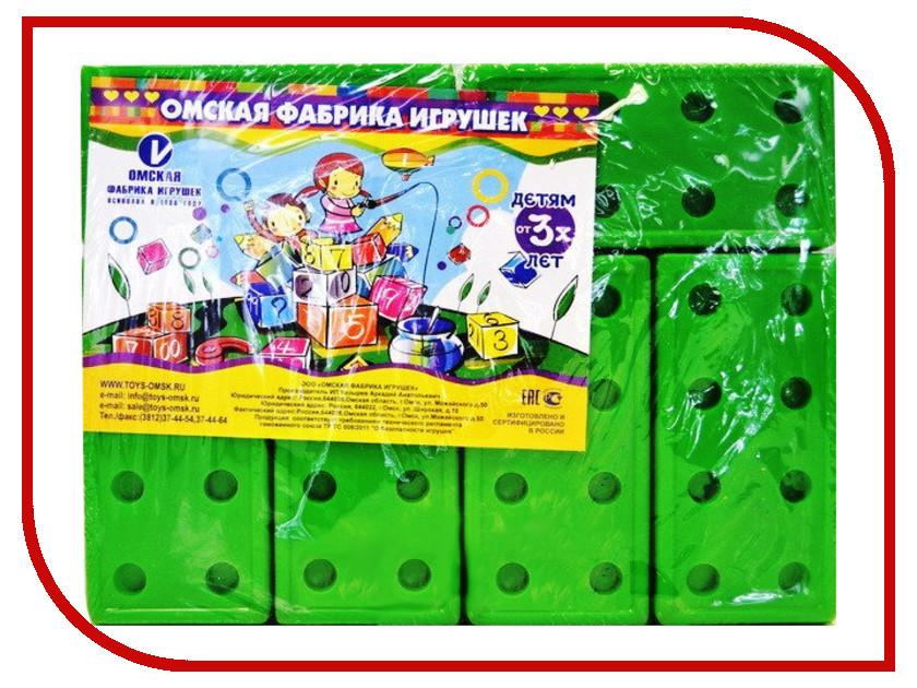 Конструктор Омская фабрика игрушек Кирпичи Green 12 дет. 0696