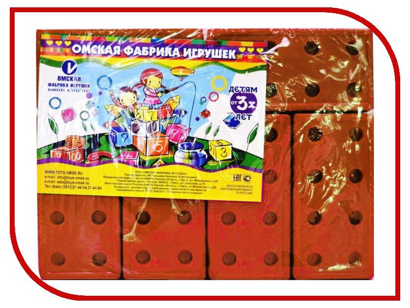 Конструктор Омская фабрика игрушек Кирпичи Red 12 дет. 0694