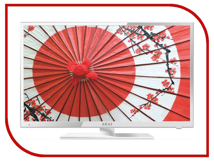 Телевизор AKAI LEA-24V61W телевизор 24 akai lea 24v61w full hd 1920x1080 usb hdmi vga белый
