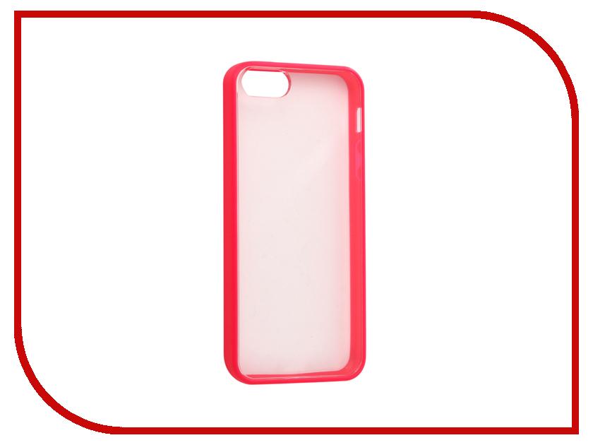 Аксессуар Чехол Ainy для iPhone 5 / 5S Transparent-Pink QA-A015D чехол универсальный ainy