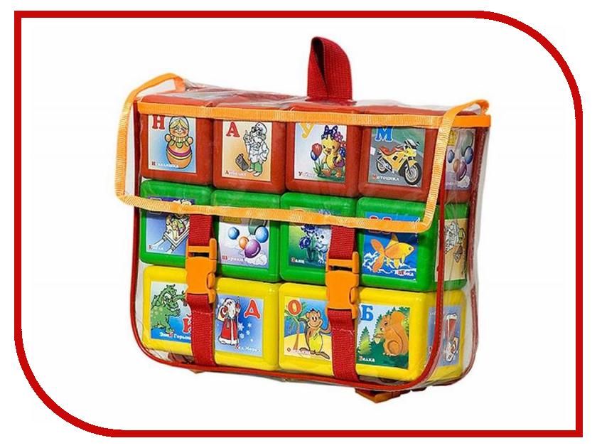 Игра Омская фабрика игрушек Кубики Азбука Портфель 0520 конструктор омская фабрика игрушек чемодан строитель 95 дет 0560
