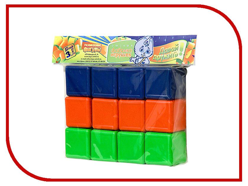 Игра Омская фабрика игрушек Кубики цветные 0320