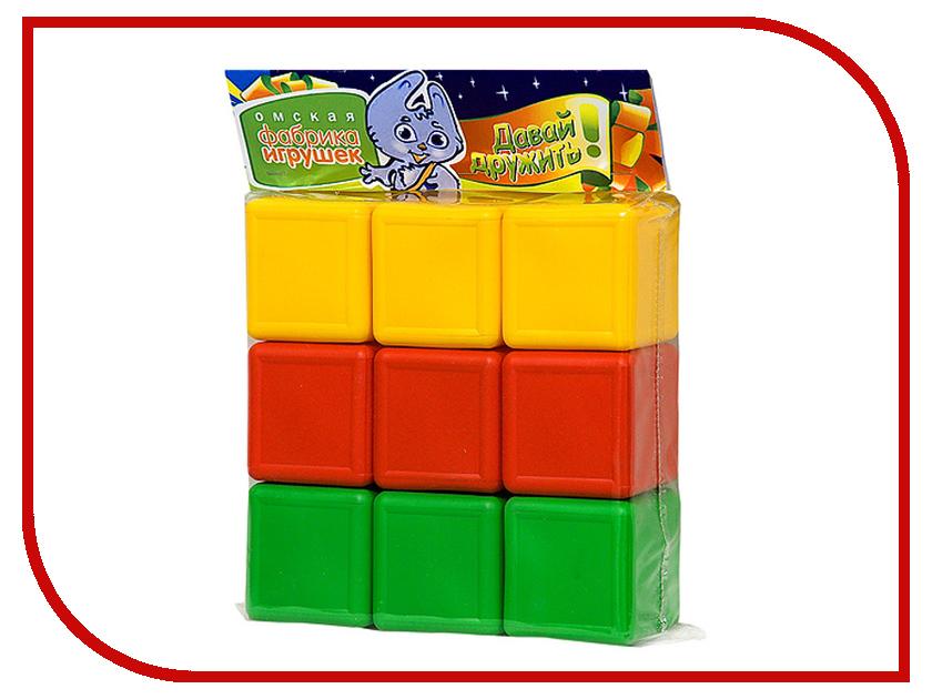 Кубики Омская фабрика игрушек Цветные 0350 фабрика игрушек