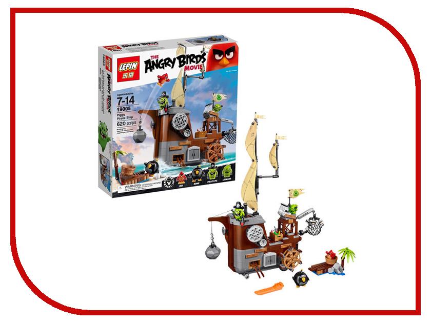 Конструктор Lepin The Angry Birds Пиратский корабль свинок 650 дет. 19005