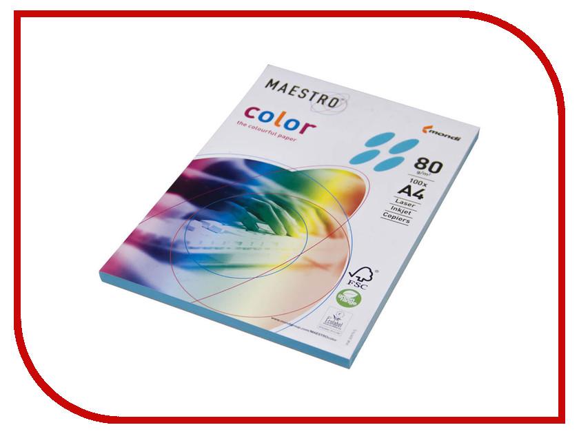 Бумага Maestro Color Intensive A4 80g/m2 100л Light Blue AB48 201383 maestro grand