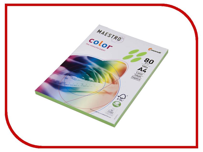 Бумага Maestro Color Intensive A4 80g/m2 100л Light Green MA42 201382