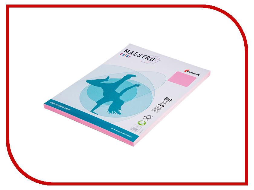 Бумага Maestro Color Pale A4 80g/m2 100л Pink PI25 102154 maestro grand