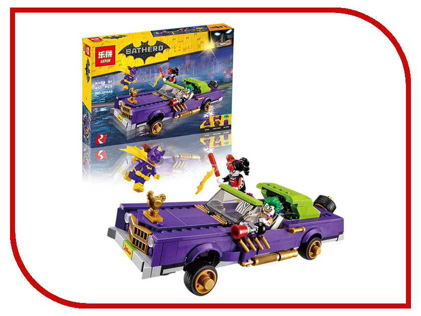 Конструктор Lepin Batman Лоурайдер Джокера 433 дет. 07046 конструктор lepin technician суперавтомобиль 1281 дет 20028