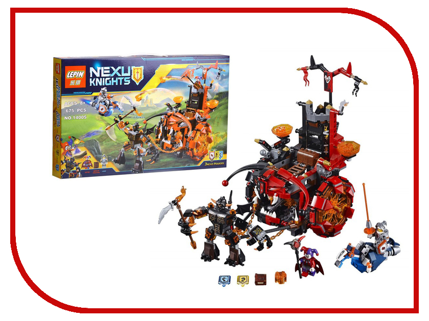 Конструктор Lepin Nexux Knights Джестро-мобиль 675 дет. 14005 lego джестро мобиль 70316