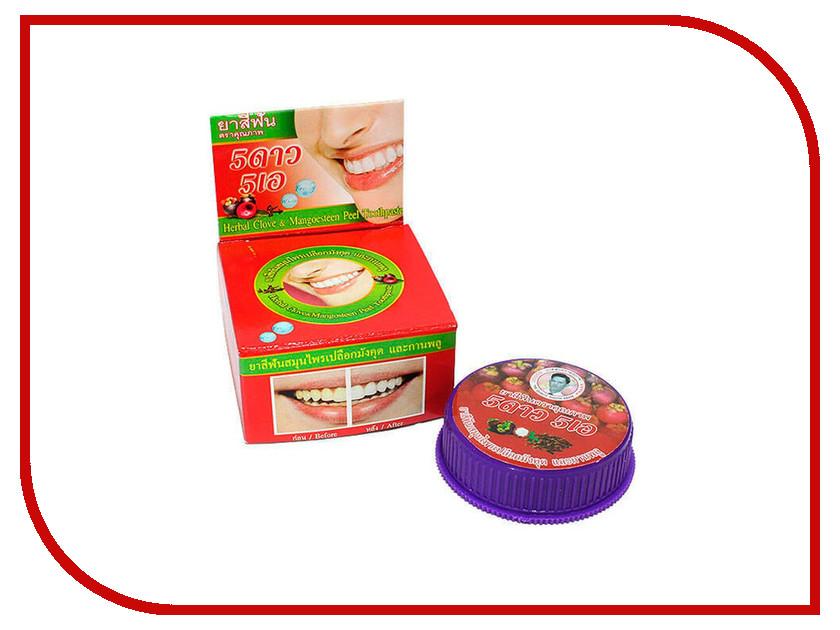 Зубная паста 5 Star Cosmetic Травяная с экстрактом Мангостина 25гр дезодорант deonat кристалл 100г с соком мангостина