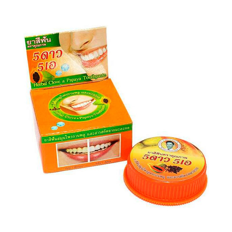 Зубная паста 5 Star Cosmetic Травяная с экстрактом Папайи 25гр