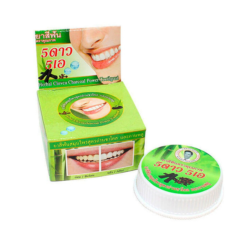 Зубная паста 5 Star Cosmetic Травяная с экстрактом угля Бамбука 25гр