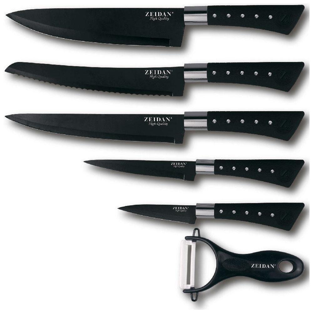 Набор ножей Zeidan Z-3090 Black цена 2017
