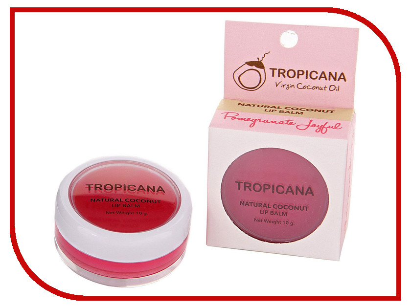 Средство для ухода за лицом Tropicana OIL Бальзам для губ Радостный гранат