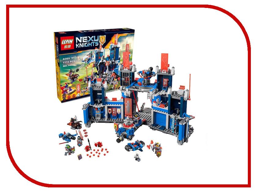 Конструктор Lepin Nexu Knights Фортрекс - мобильная крепость 1115 дет. 14006 lego lego nexo knights 70317 фортрекс мобильная крепость