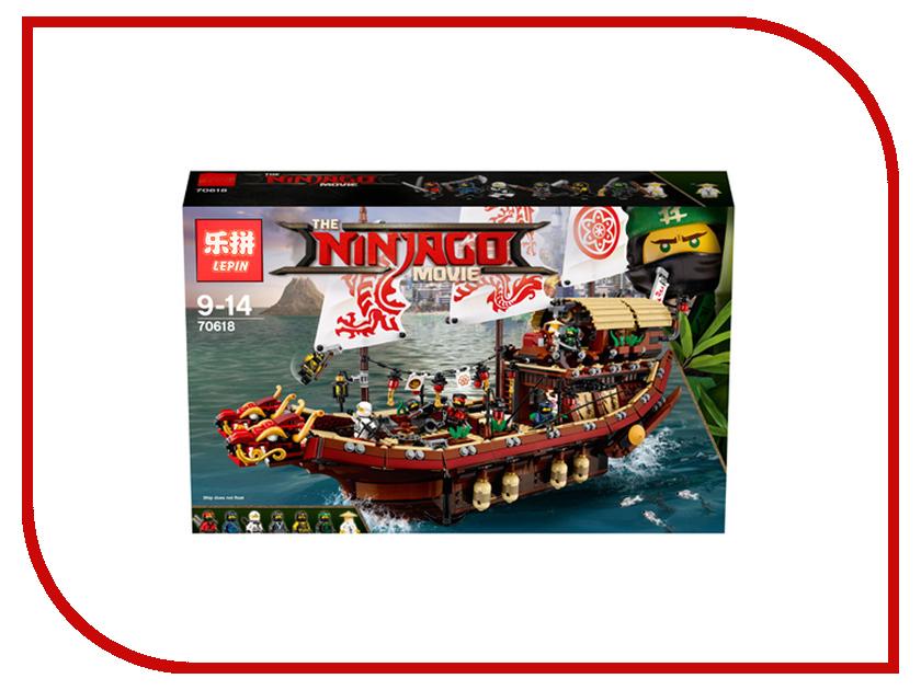 Конструктор Lepin Ninjag Летающий корабль Мастера Ву 2455 дет. 06057 сенсей ву лего ниндзяго купить