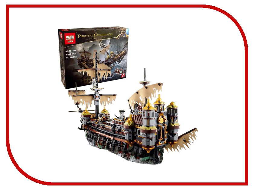 Конструктор Lepin Pirates of the Caribbean Безмолвная Мэри 2344 дет. 16042 804pcs new lepin 16006 pirates of the caribbean the black pearl building blocks set compatible 4184 children gift