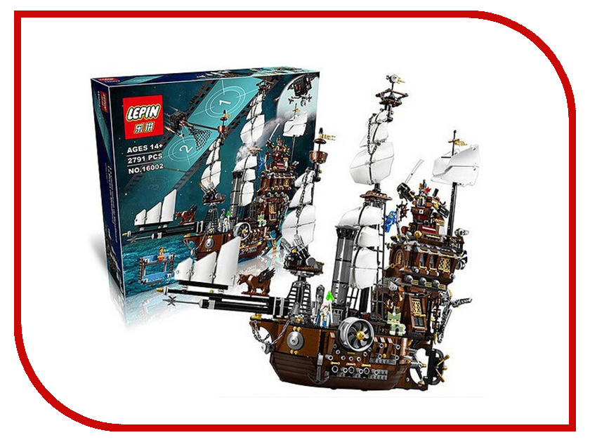 Конструктор Lepin Creator Корабль Стальной Бороды 2791 дет. 16002 купить деревянный корабль конструктор