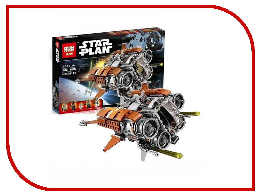 Конструктор Lepin Star Plan Квадджампер Джакку 482 дет. 05111 конструктор lepin star plan большая звезда смерти 4116 дет 05063