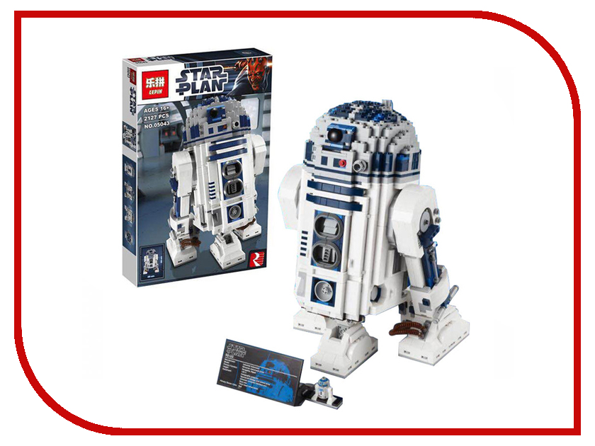 Конструктор Lepin Star Plan Робот R2-D2 Collectors 2127 дет. 05043 конструктор lepin star plan истребитель повстанцев u wing 679 дет 05054