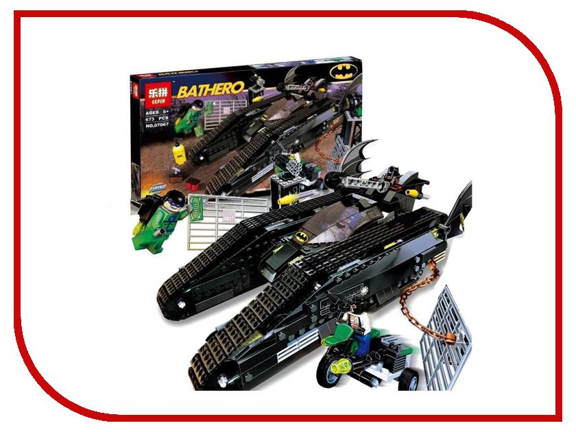 Конструктор Lepin Batman Бэттанк: Ридлер и Убежище Бэйна 673 дет. 07067 конструктор lepin batman космический шаттл бэтмена 720 дет 07098