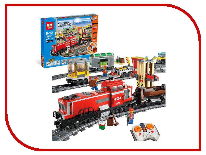 Конструктор Lepin Bulerds Красный грузовой поезд 898 дет. 02039 конструктор lepin star plan истребитель набу 187 дет 05060