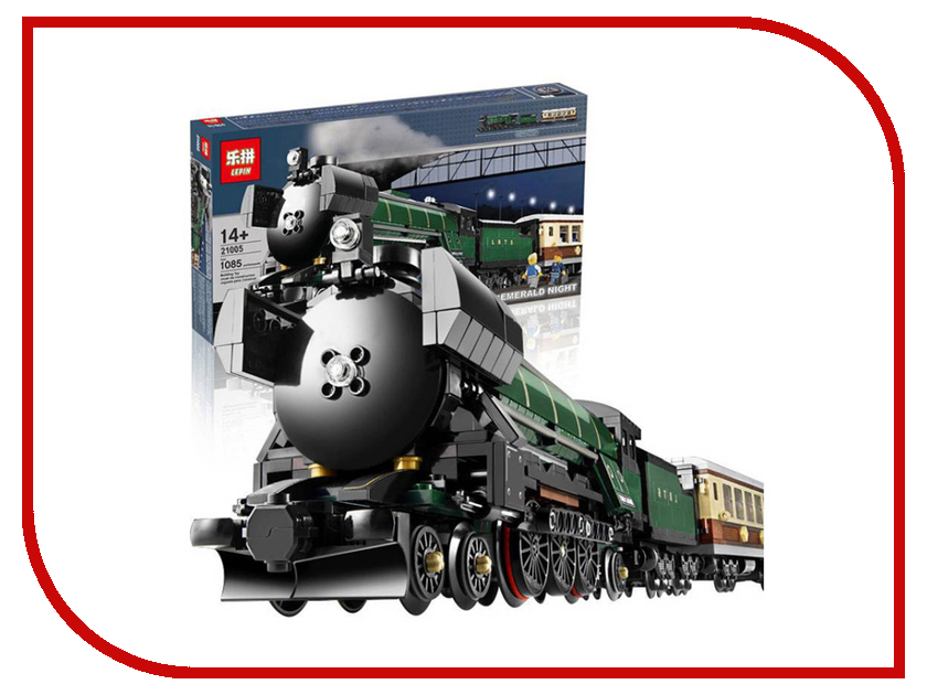 Конструктор Lepin Поезд Изумрудная ночь 1085 дет. 21005 конструктор lepin fairytale сказочный замок спящей красавицы 360 дет 25012