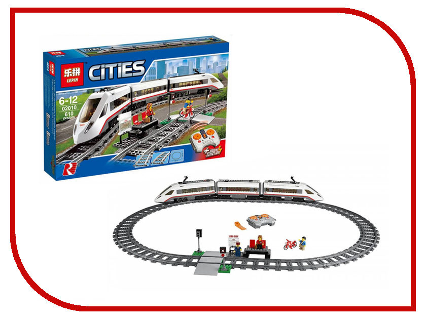 Конструктор Lepin Cities Скоростной пассажирский поезд 610 дет. 02010 конструктор lepin technician экскаватор 760 дет 20025