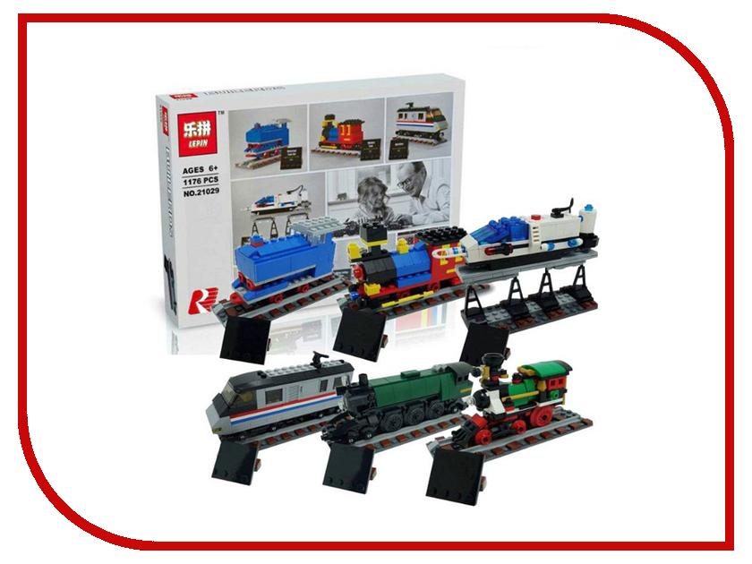 Конструктор Lepin Юбилейные поезда, 50 лет в пути 1176 дет. 21029 каму можно продать юбилейные десятки