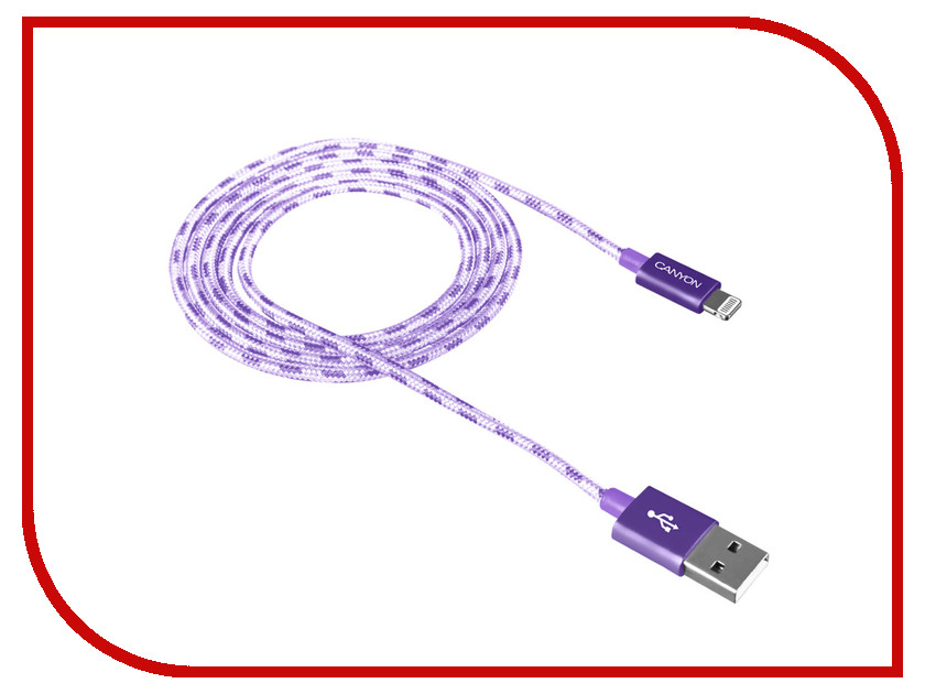 Аксессуар Canyon USB - Lightning 1m Purple CNE-CFI3P жакеты gabriela жакет