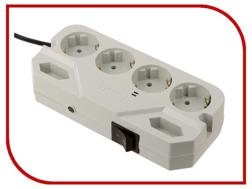 Сетевой фильтр Most CHV 6 Sockets 2m White сетевой фильтр most rg 6 sockets 2m black