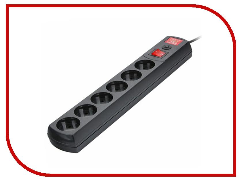 Сетевой фильтр Most LR 6 Sockets 1.7m Black