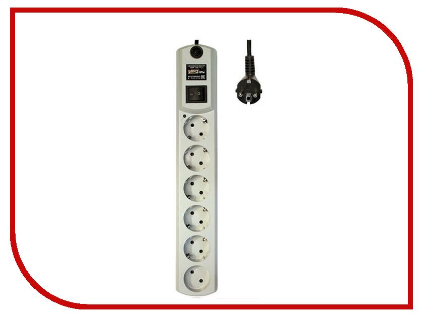Сетевой фильтр Most HPW 6 Sockets 2m White сетевой фильтр makel 2 sockets 7m mgp107
