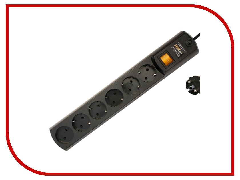 Сетевой фильтр Most HP 6 Sockets 5m Black