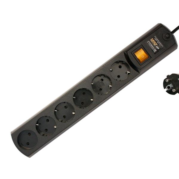Сетевой фильтр Most HP 6 Sockets 5m Black цена и фото