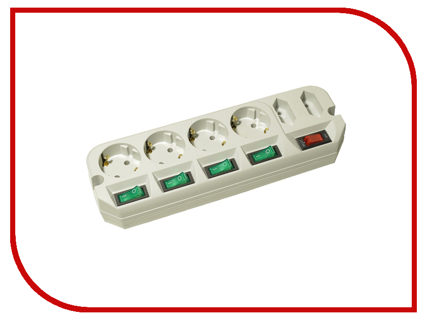 Сетевой фильтр Most ARG 6 Sockets 3m White удлинитель rexant optima 3 sockets 7m white 11 2267