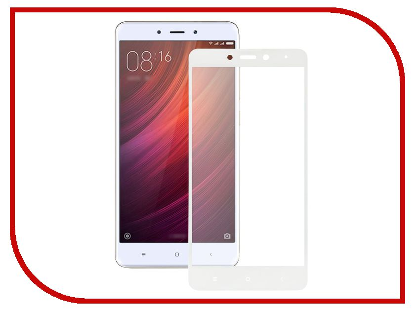 Аксессуар Защитное стекло Xiaomi Redmi Note 4 Ainy Full Screen Cover 0.33mm White аксессуар защитное стекло samsung galaxy note 8 ainy full screen cover 3d 0 2mm black