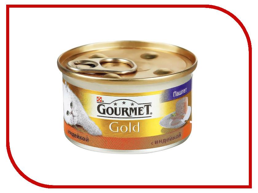 Корм Gourmet Gold Индейка Паштет 85g для кошек 20946