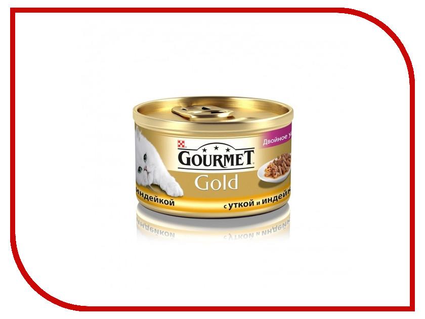 Корм Gourmet Gold Утка Индейка кусочки в подливке 85g для кошек 12746