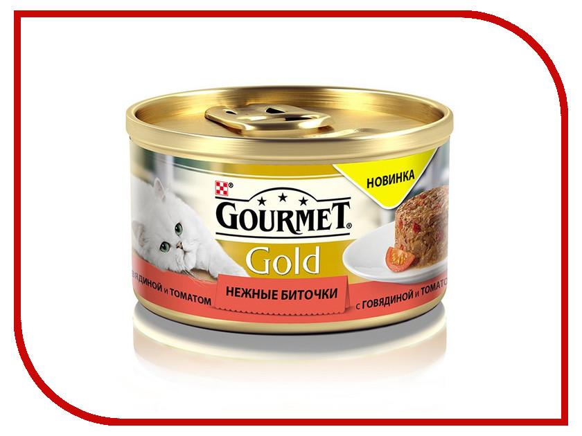 Корм Gourmet Gold Нежные Биточки Ягненок Фасоль 85g для кошек 61282