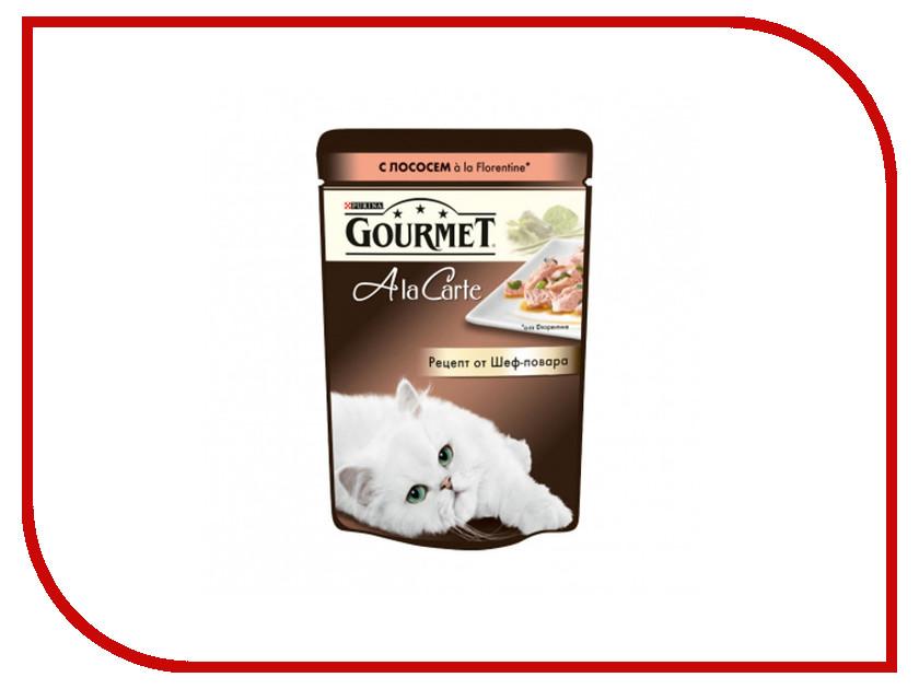 Корм Gourmet A la Carte Лосось со Шпинатом Цукини и Зелёной Фасолью а-ля Флорентин 85g для кошек 56586