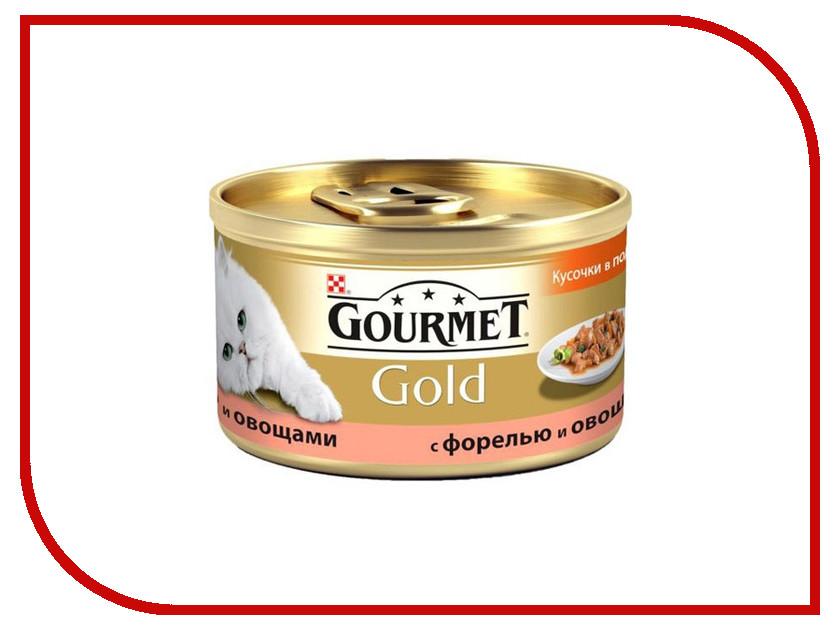 Корм Gourmet Gold Форель Овощи кусочки в подливке 85g для кошек 19247