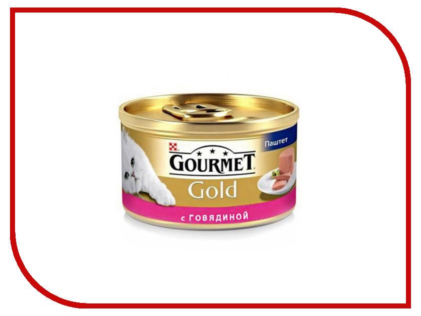 Корм Gourmet Gold Говядина Мусс 85g для кошек 53102